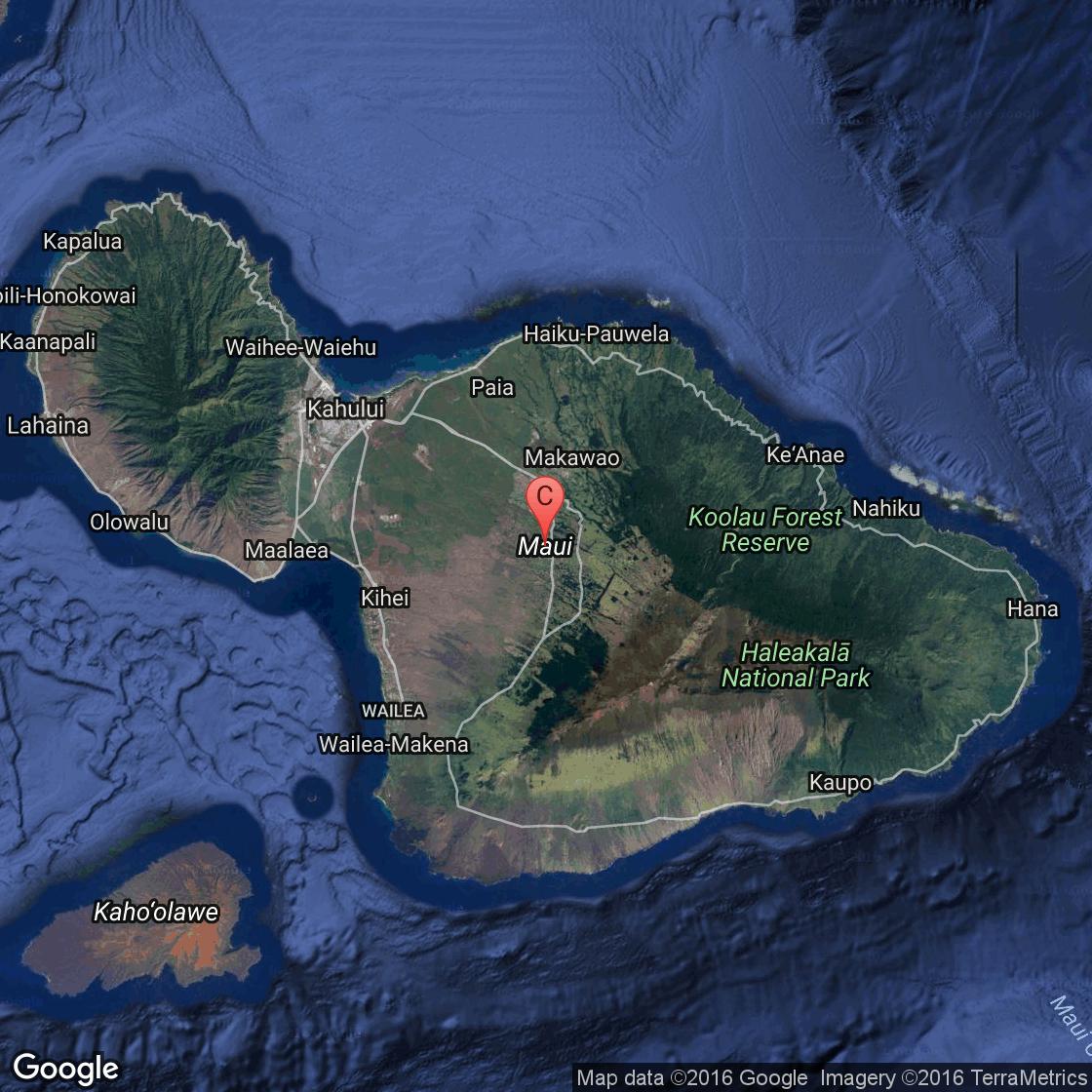 Maui Island Google Map