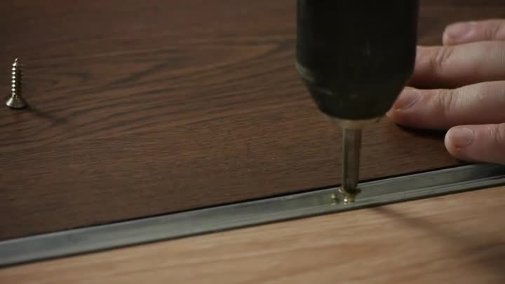 Video How To Install T Moulding Transition On A Hardwood