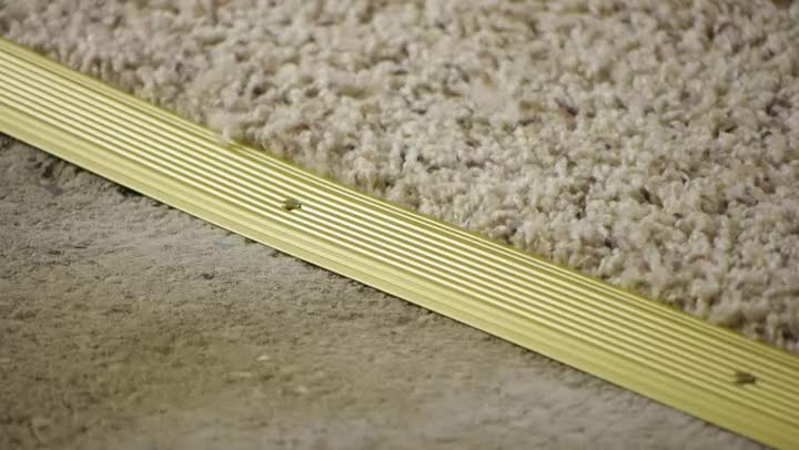 Video How To Install Carpet Transition Trim Between