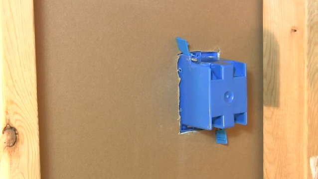 Video: How to Install a Single-Gang Switch Box in Drywall ...