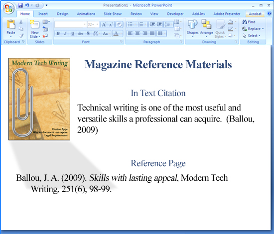 Citing A Quote Apa: How To Use APA Format In Powerpoint