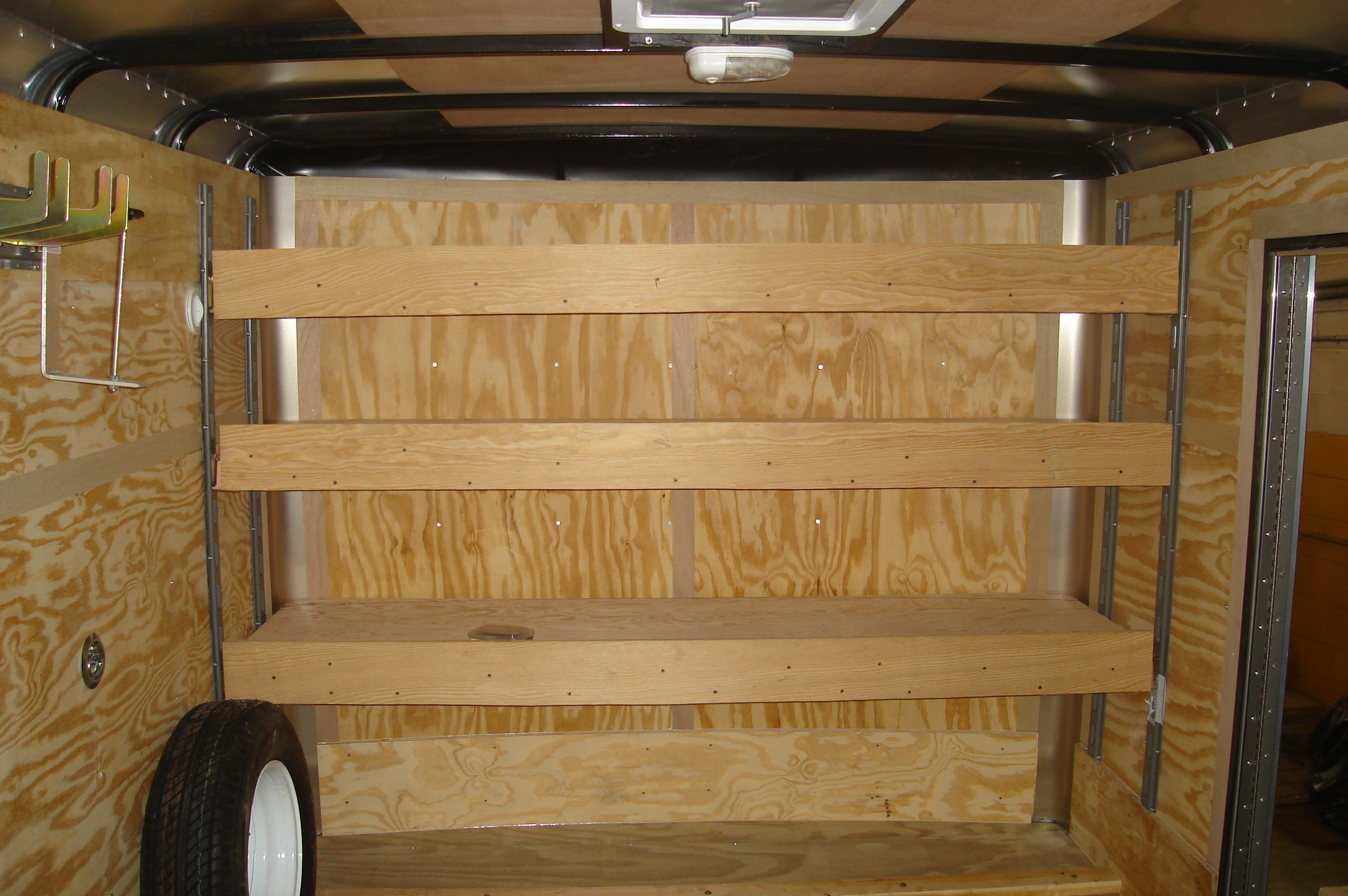 Enclosed Utility Trailer Shelving Ideas It Still Runs
