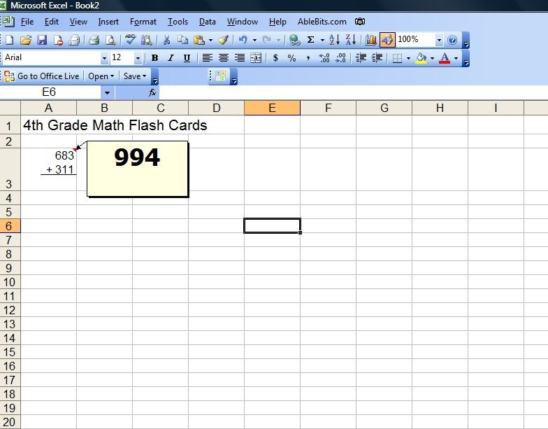 excel flashcard template
