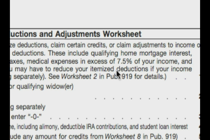 Printables Deductions And Adjustments Worksheet video deductions adjustments worksheet w 4 tax form ehow