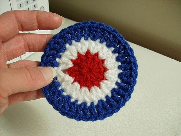 How To Crochet A 4th Of July Coaster Our Pastimes