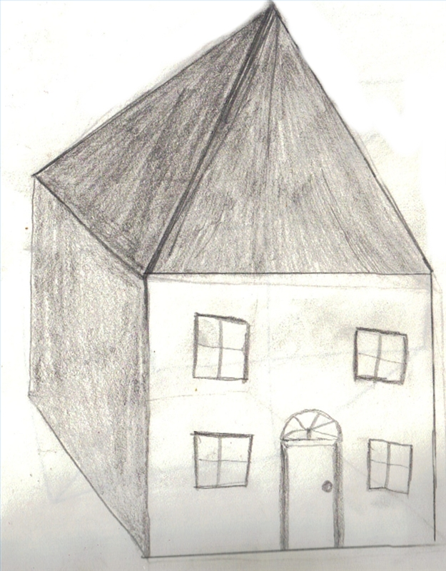 how to draw a 3d house our pastimes - House Drawing 3d