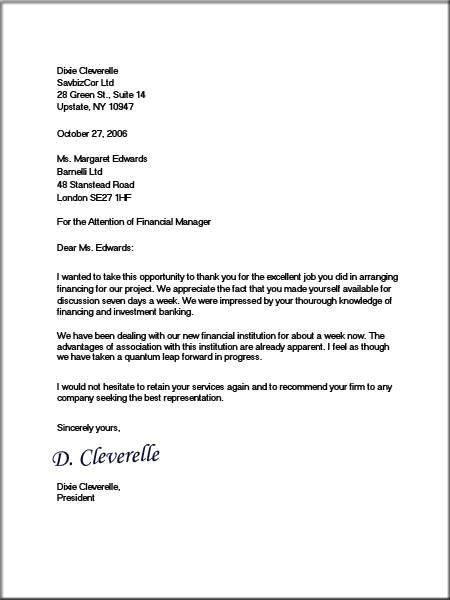mla format business letter