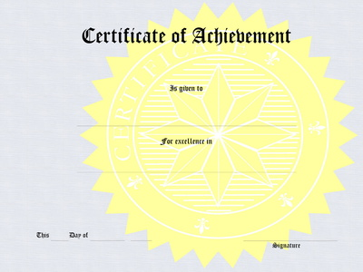 Classroom   Synonym  Certificate Of Excellence Wording