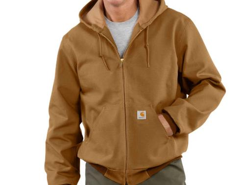 Carhartt Duck Thermal-Lined Brown Active Jacket - XL