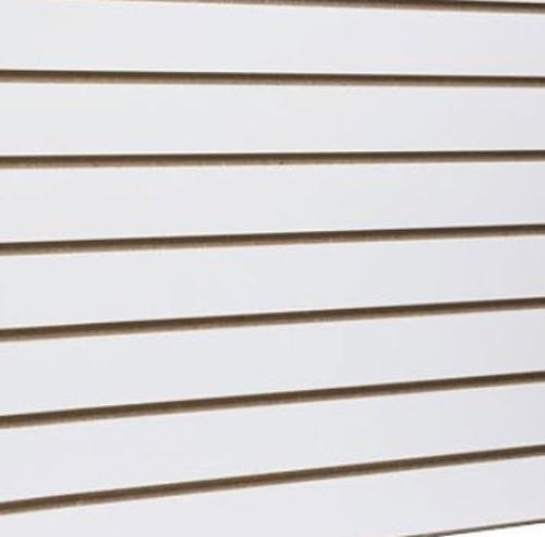 3/4 in x 4 ft x 8 ft Horizontal Slatwall Panel w/ 3 in Slats
