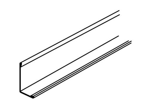 10 ft x 2 in x 1 in Armstrong Hemmed Angle Molding - 7807BL