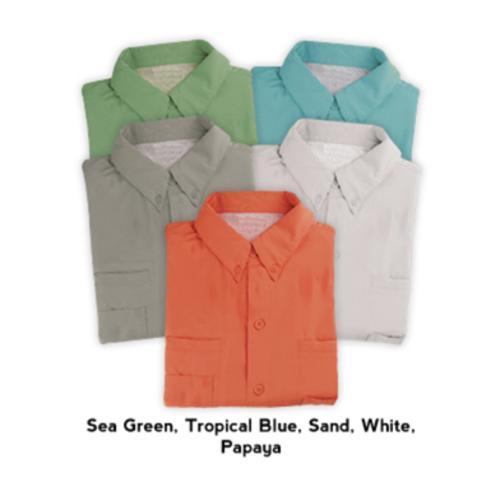 Hilton Baja Short Sleeve Fishing Shirt / Tropical Blue - 2 XL