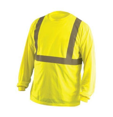 OccuNomix Classic Long Sleeve Wicking Birdseye Yellow T-Shirt - Medium