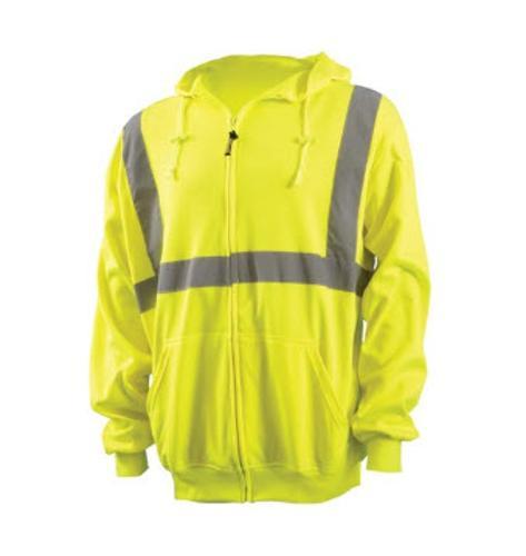 OccuNomix Classic Lightweight Full-Zipper Yellow Hoodie - Medium