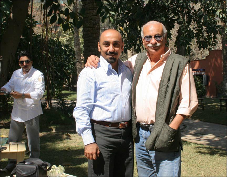 Ali Almimar with Dr. Nasr Marei