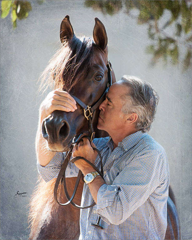 Michael Byatt and Gazal Al Shaqab. Photo by Suzanne Sturgill