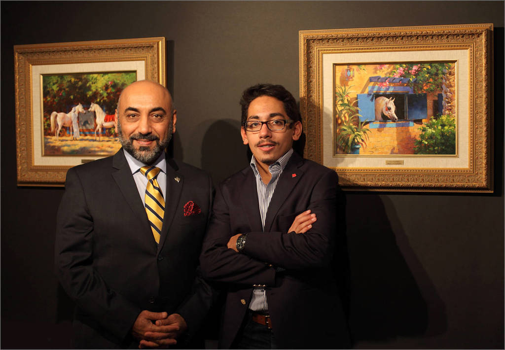 Artist Ali Almimar and his son Abdul