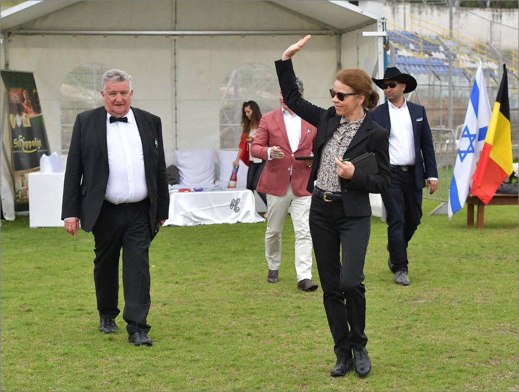 Renata Schibler (CHE) one of the judges of the Arabian Horse Spring Show
