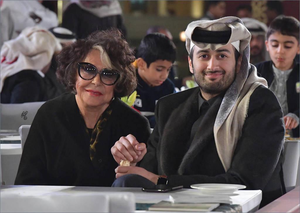 Judith Forbis, of Ansata Arabian Stud and Sheikh Saoud bin Abdulaziz Al Thani of Al Waab Farm