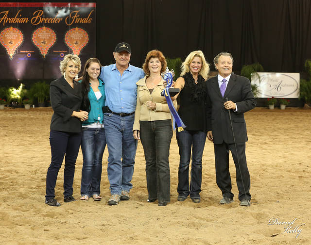 Celebrating at the 2013 Arabian Breeder Finals