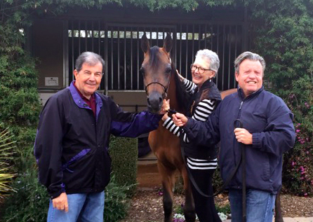 John and Debra Mitchell with Lark RCA and Greg Knowles after his purchase from Judy Sirbasku