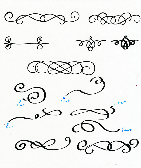 How To Draw Calligraphy Flourishes Tuts Design