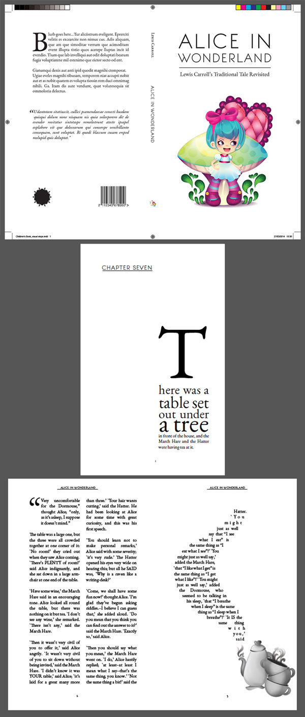 Book Cover Design Tutorial Illustrator ~ Create beautiful page layouts and a striking cover for