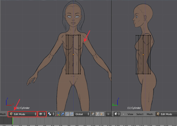 Female Character Modeling In Blender Part 5 : Step