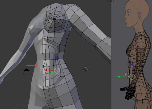 Female Character Modeling In Blender Part 4 : Combining the head body