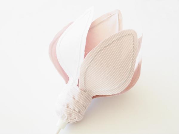 Tự chế chụp đèn hoa tuylip từ vải sợi - 18
