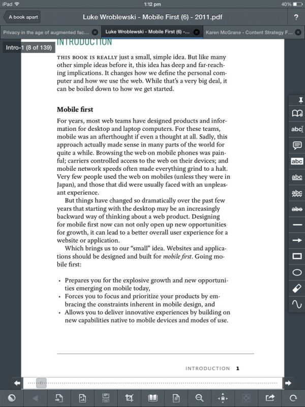 ipad pdf reader with highlighting and notes
