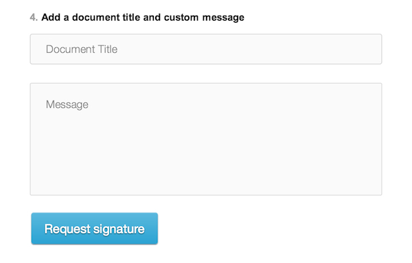 Adding a message to your HelloSign email