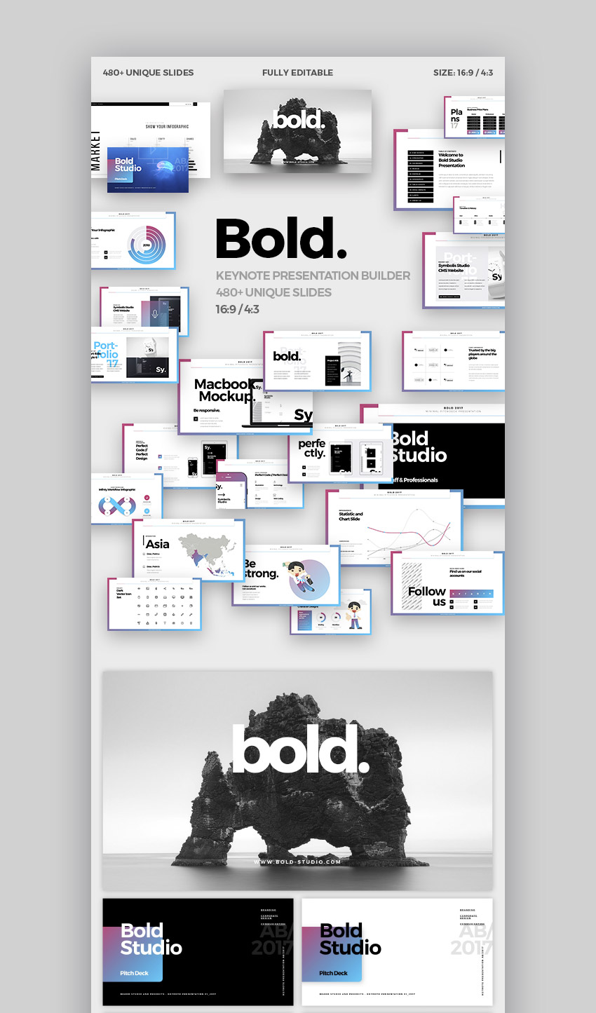 Bold Minimal Apple Keynote Theme Design