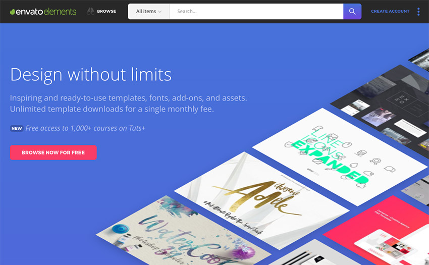 Envato Elements - Design without limits