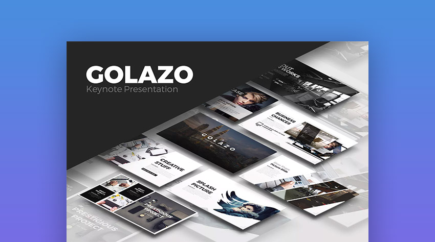 Golazo Creative Keynote Presentation Theme for Mac