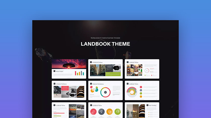 Landbook Mac Custom Keynote Presentation Template