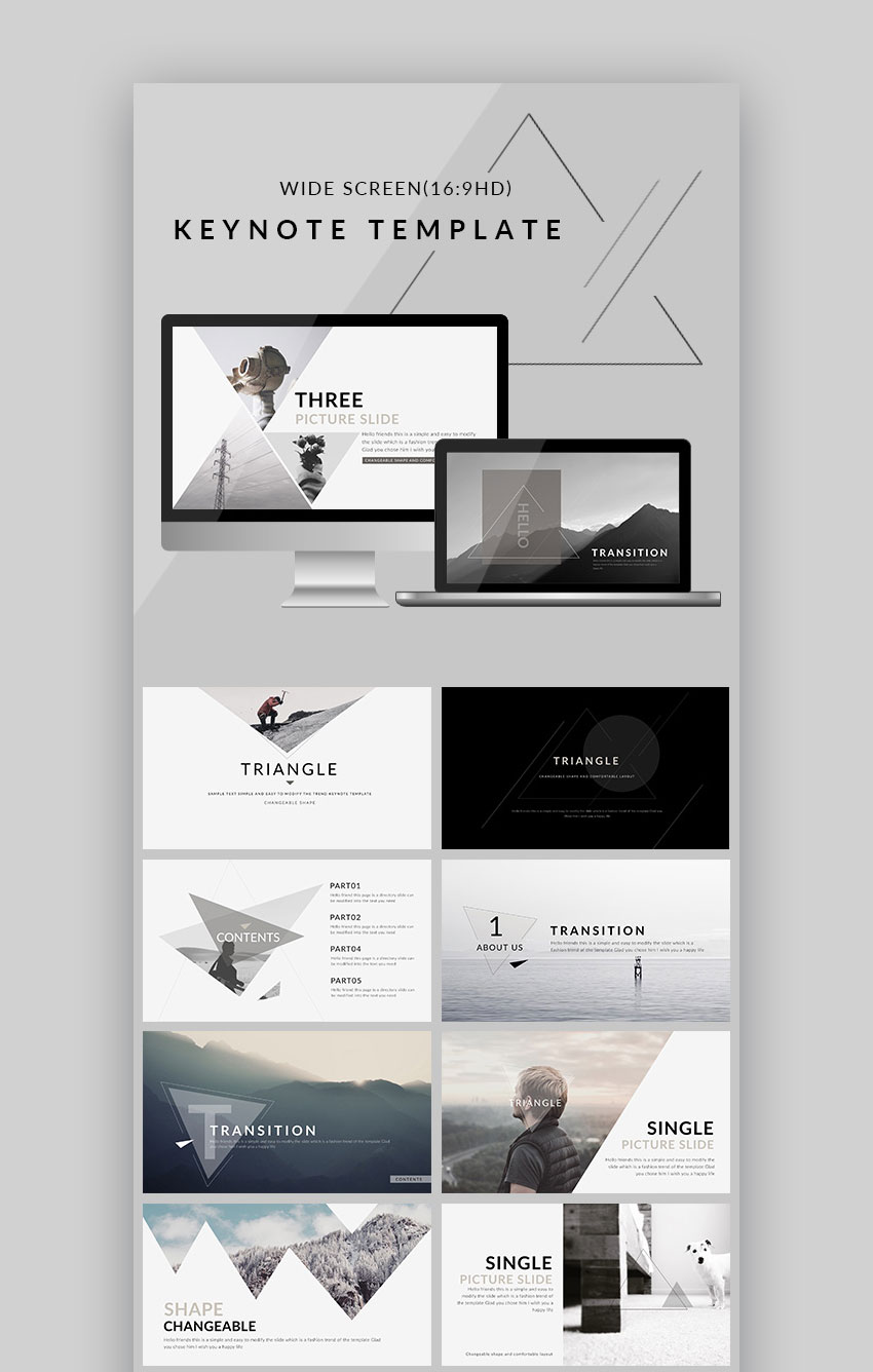 Triangle Clean Design Trend Mac Keynote Theme