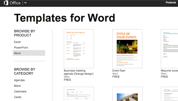 online word templates for mac