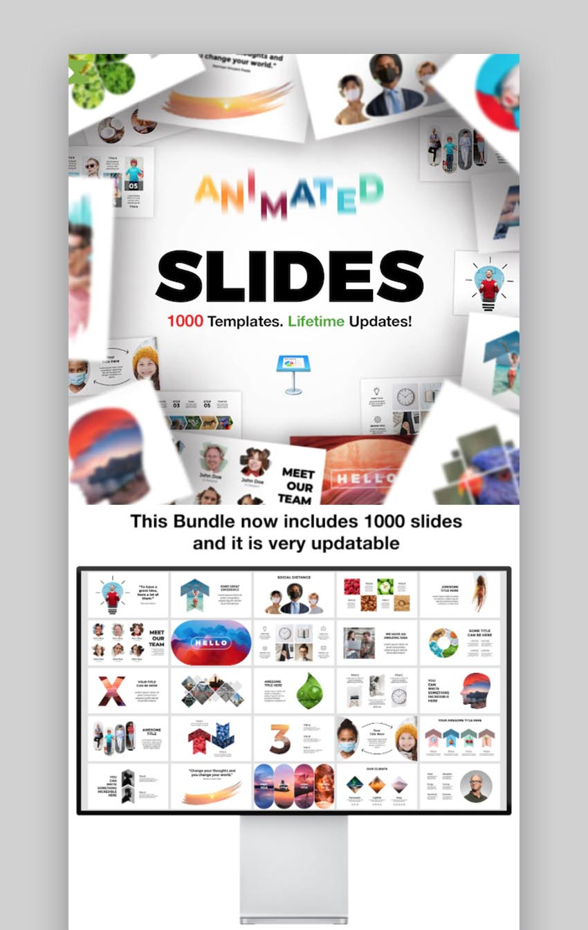 Animated Slides Bundle for Keynote Presentation