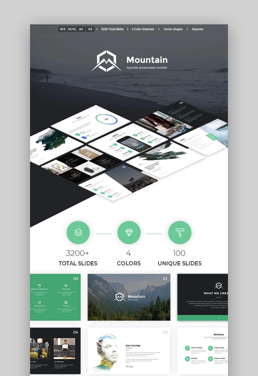 Mountain Creative Keynote Presentation Template