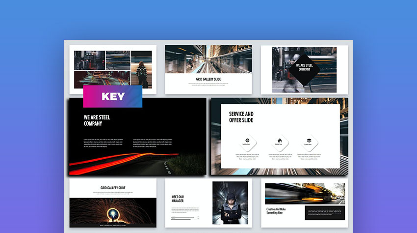 Steel - Business Keynote Template