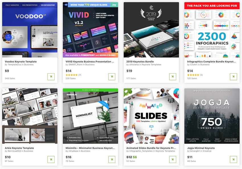 Best Keynote presentation design templates on GraphicRiver
