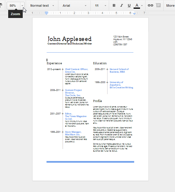 Create an Eye-Catching Resume in Google Docs - Tuts+ Computer Skills ...