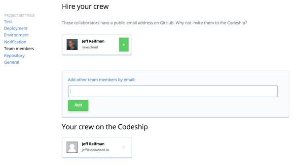 Codeship Collaborate with your developers
