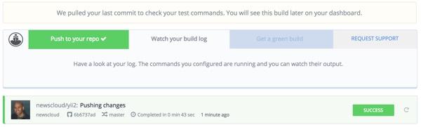 Codeship Build Log