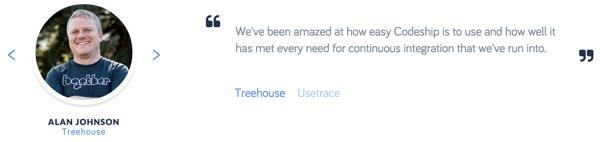 Codeship Treehouse Customer Testimonial