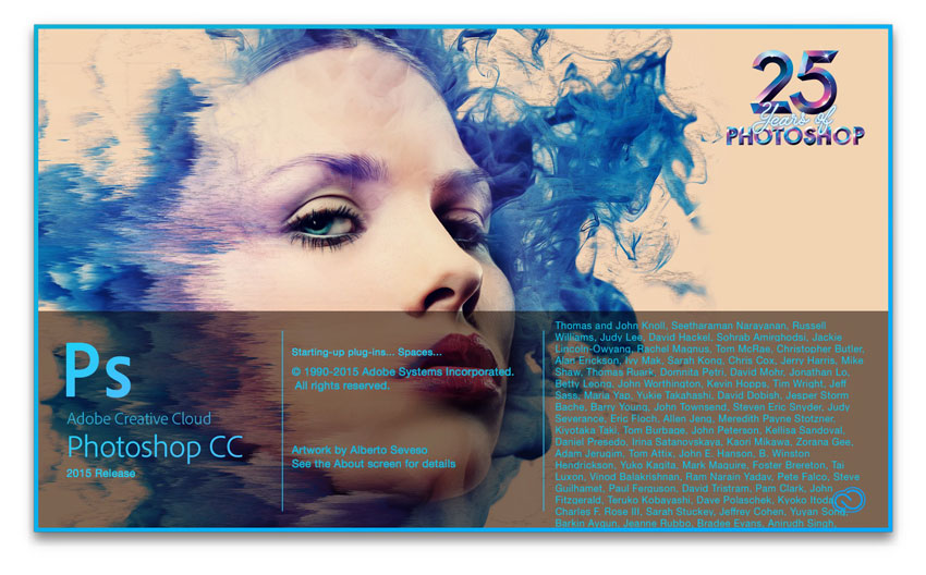 Adobe Photoshop Splash - 25 years edition