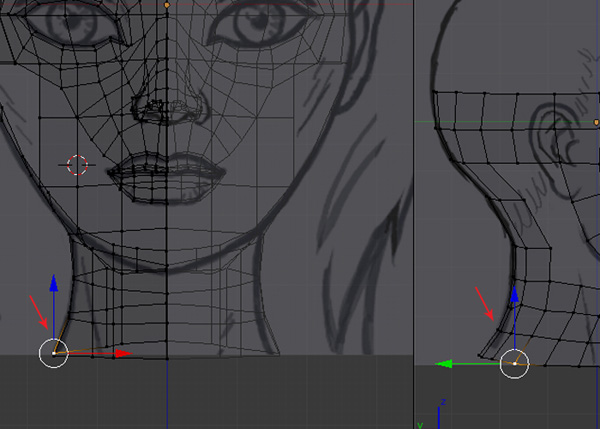 Female Character Modeling In Blender Part 2 : Creating the head