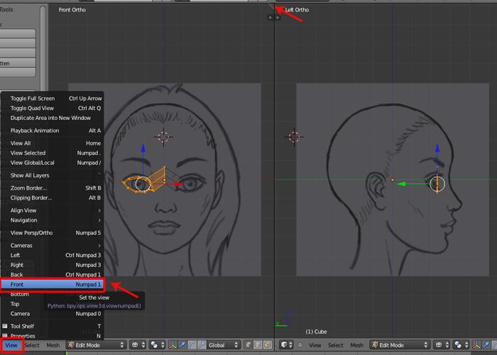 Female Character Modeling In Blender Part 1 : Step