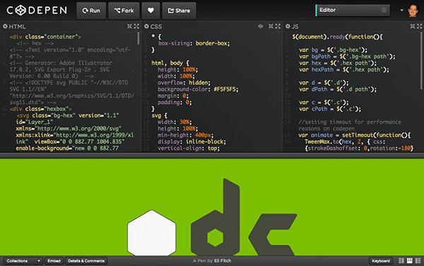 JavaScript Tools: CodePen io - Fire Bull Design Studio